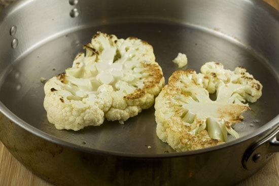 searing Cauliflower Steaks