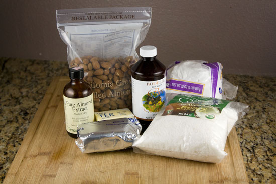 ingredients for Almond Truffles