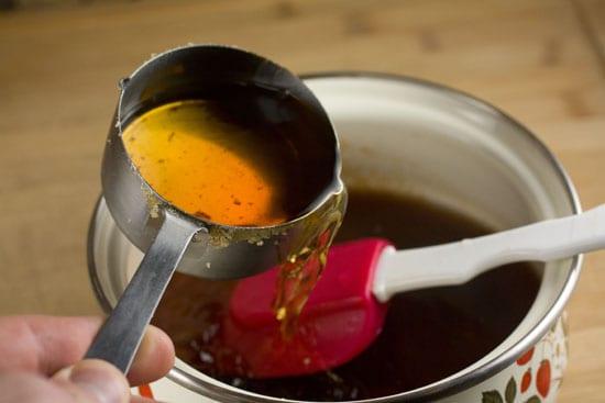 bourbon added for Bourbon Glaze recipe