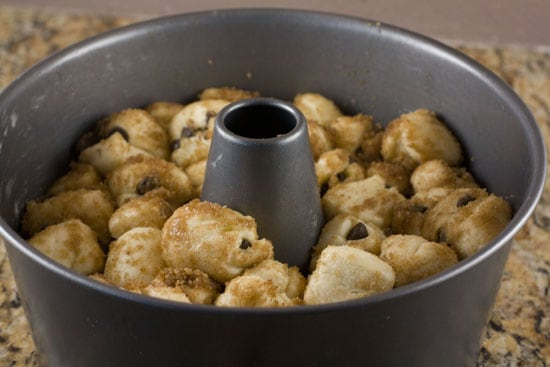 rising - Chocolate Chip Monkey Bread