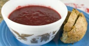 Roasted Beet Soup recipe from Macheesmo