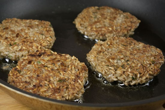 cooked Brown Rice Burgers