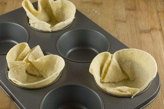 in cups - Tex Mex Egg Cups