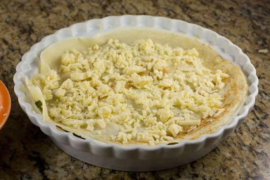 second layer - Savory Crepe Pie