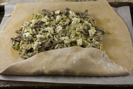 first the fold - Mushroom Leek Galette