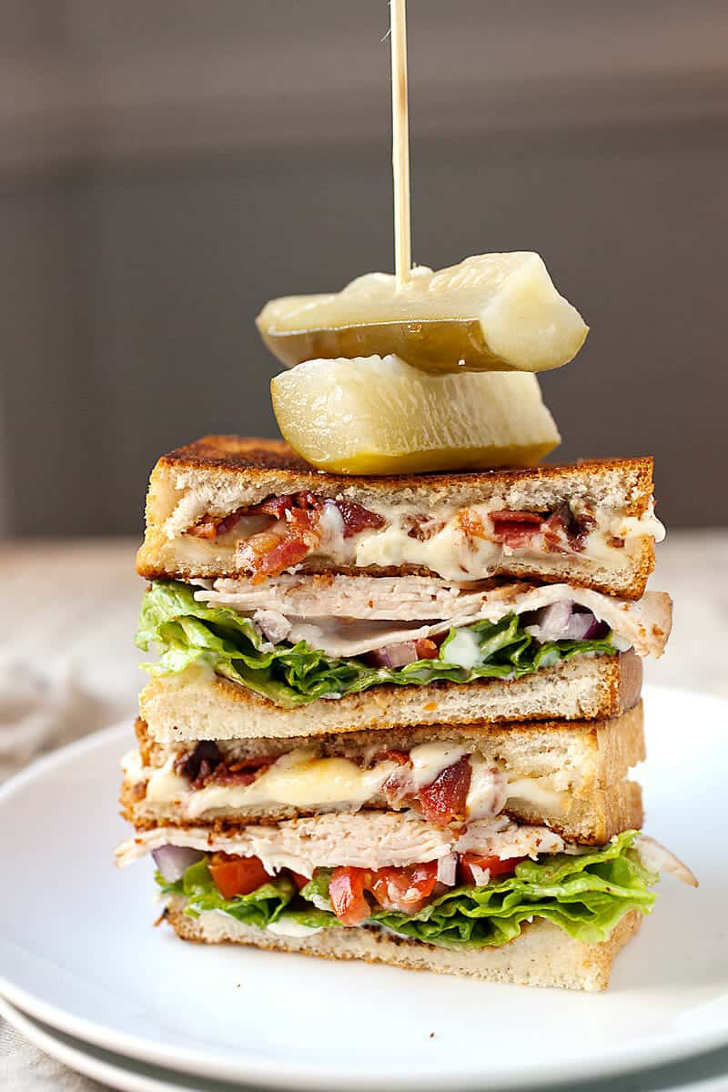 Grilled Cheese Club Sandwich: For the sandwich lover that just can't decide, this is the answer. Half grilled cheese and half turkey club, this is my new favorite lunch. As easy to make as either of the halves and doubly delicious. | macheesmo.com