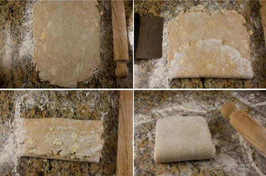 laminating the dough - Mushroom Leek Galette
