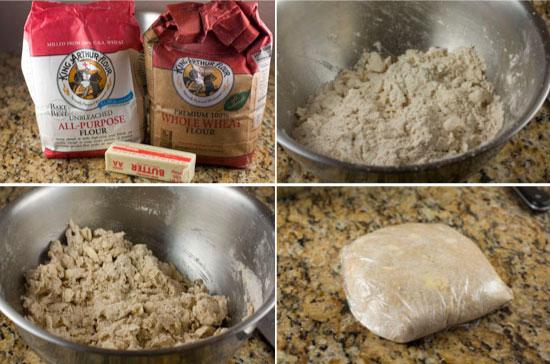 making dough for Mushroom Leek Galette