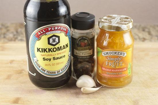 sauce stuff for Spicy Orange Greens