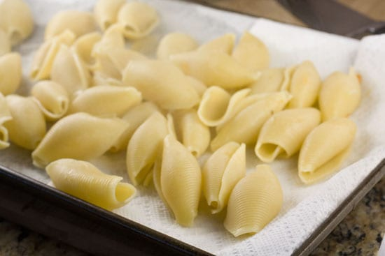 cooked pasta for Sweet Potato Stuffed Shells