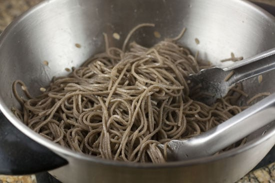 cooked soba noodles for Spicy Orange Greens