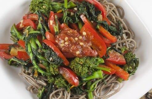 Spicy Orange Greens recipe