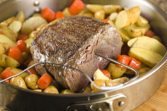 starting roast - Bourbon Glaze recipe