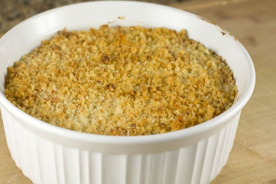 browned topping on Jalapeno Popper Dip