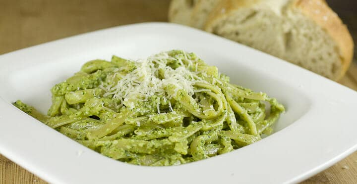 Arugula Walnut Pesto from Macheesmo
