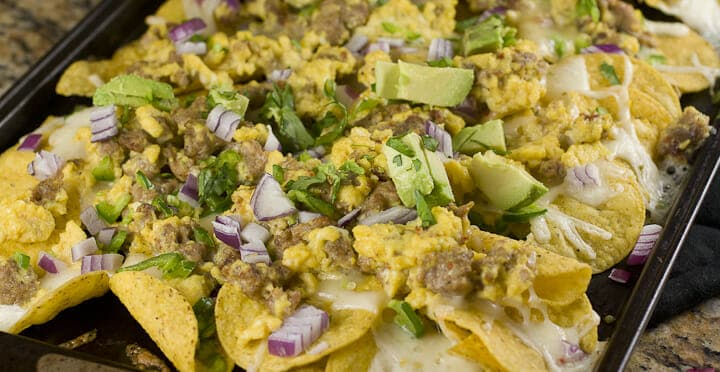 Breakfast Nachos recipe