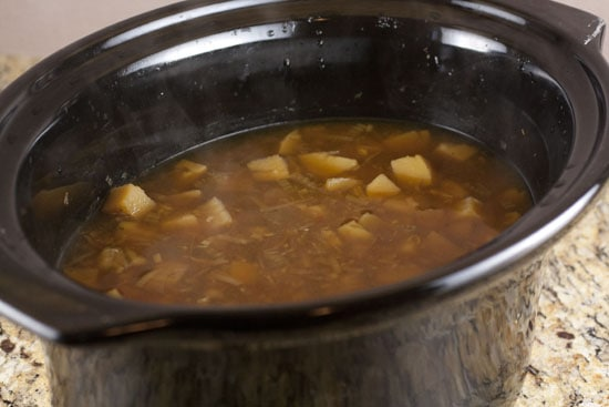 cooked Crockpot Potato Soup