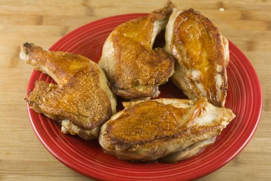seared chicken for Chicken Adobo recipe