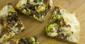 Brussel Sprout Flatbread recipe by Macheesmo