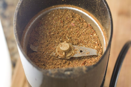 ground spices for Charred Eggplant Curry