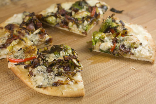 Brussel Sprout Flatbread recipe from Macheesmo