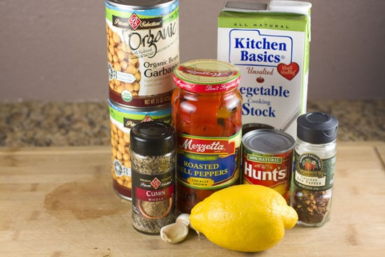 ingredients for Thirty Minute Chickpea Stew