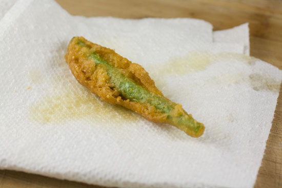test batch of Fried Green Beans