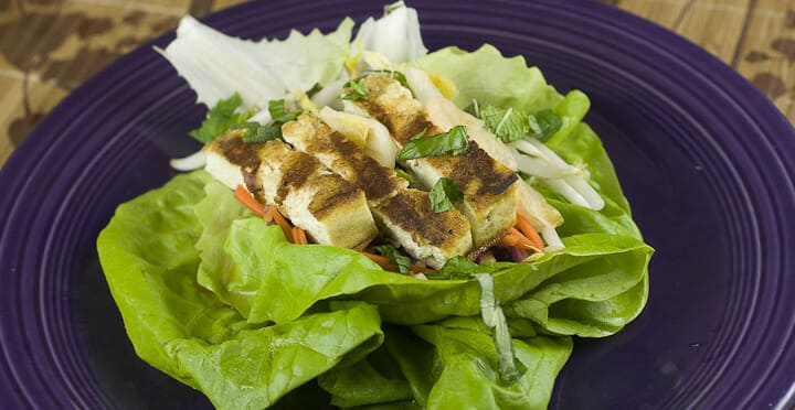 Grilled Tofu wraps recipe from Macheesmo