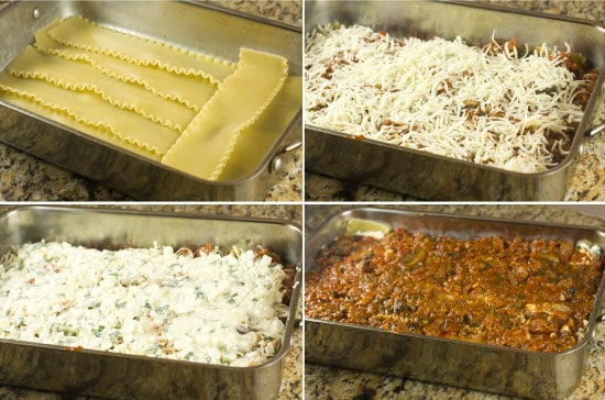 how to freeze lasagna  - building it