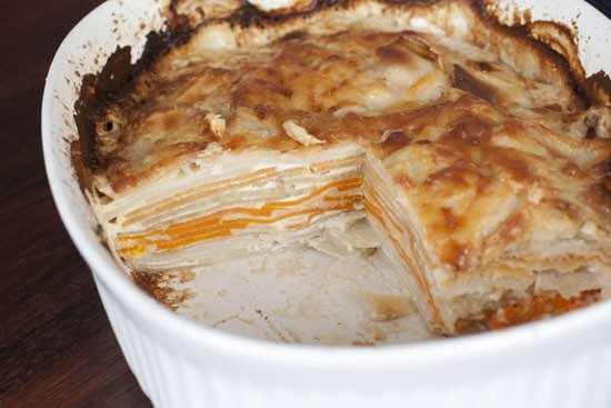 cut Root Vegetable Gratin