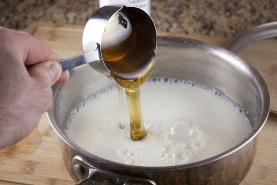 milk base for Coconut Honey Ice Cream