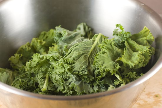 cleaned Kale for Kale Pasta
