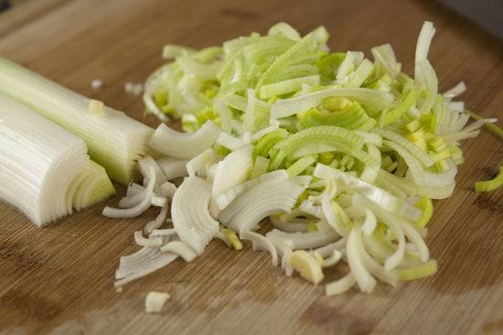leeks for Broccoli Parmesan Soup