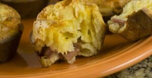Ham and Cheese Popovers recipe from Macheesmo
