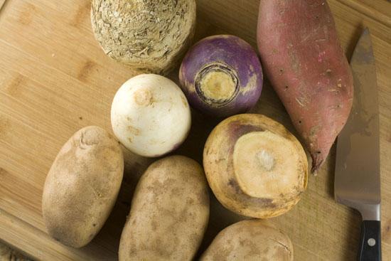 veggies for Root Vegetable Gratin