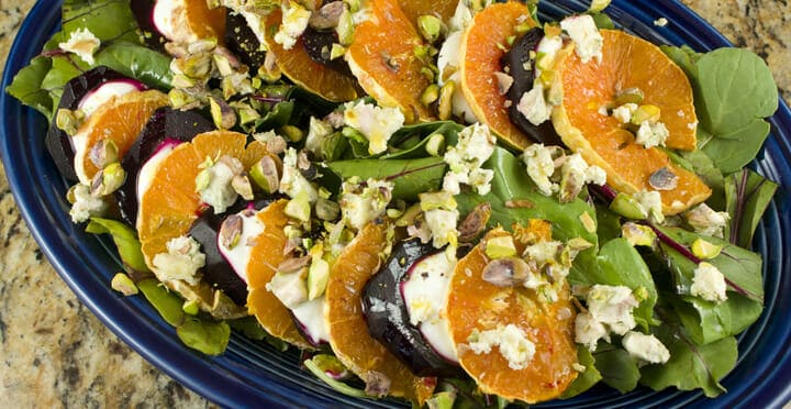 Beet and Orange salad from Macheesmo