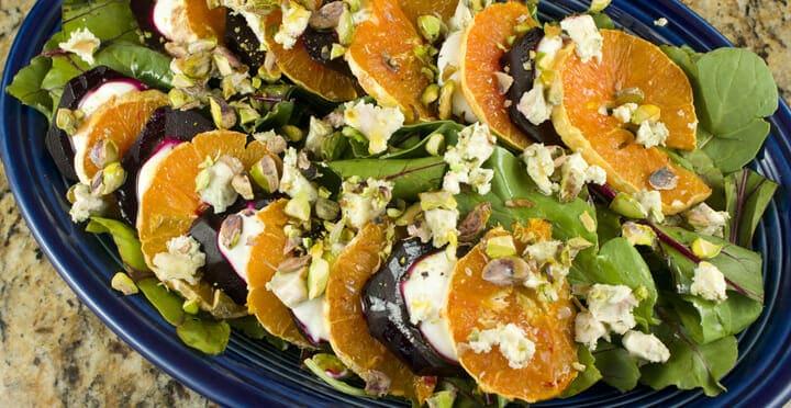 Beet and Orange salad from Macheesmo