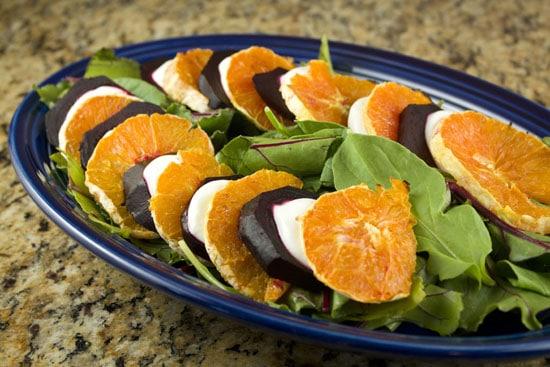 plated Beet and Orange Salad