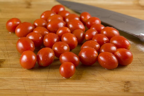 cherry tomatoes for Picnic Pasta Salad