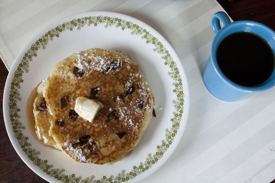 plate of Date and Honey Pancakes