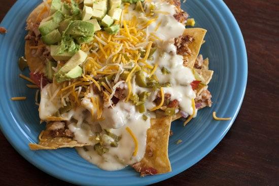 plate of rib nachos