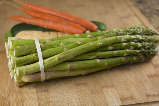 vegetables for Vegetable Ribbon Salad