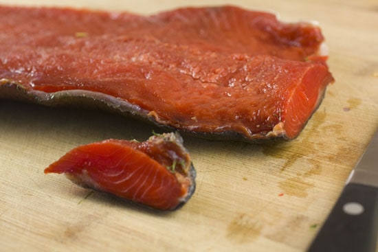 cured fish - Bourbon Cured Salmon