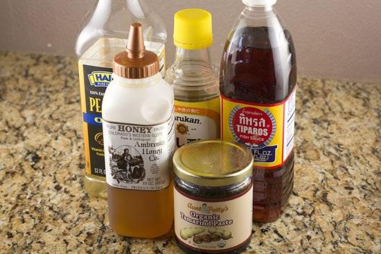 sauce ingredients for Shrimp Pad Thai