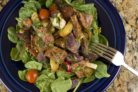 Steak and Potato Salad Recipe from Macheesmo