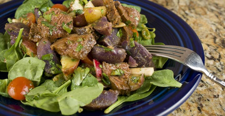 Steak and Potato Salad fro Macheesmo