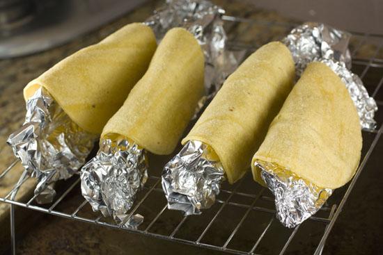 heating tortillas for shells - Homemade Taco Seasoning post