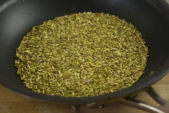 toasted fennel for Bourbon Cured Salmon