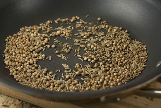 toasted spices for Baked Falafels