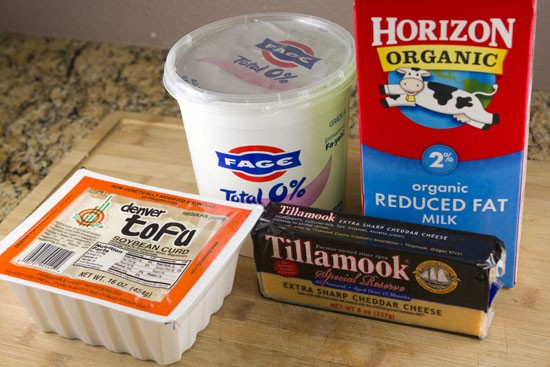 sauce ingredients for Tofu Mac and Cheese